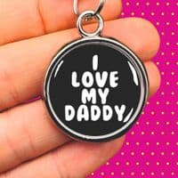 Personalised Dog ID Tag - I Love My Daddy